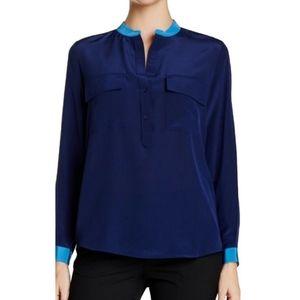 🆕️Vince Blue Silk Long Sleeve Buttondown Shirt